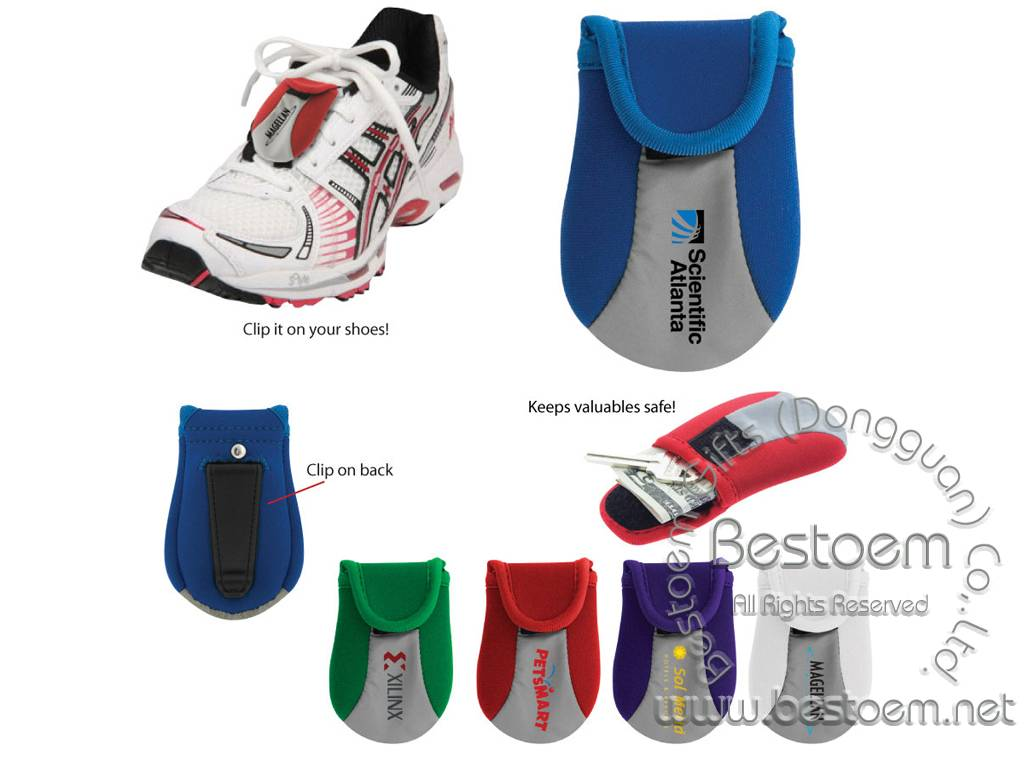 Neoprene Shoe lace pouches bags for promotion