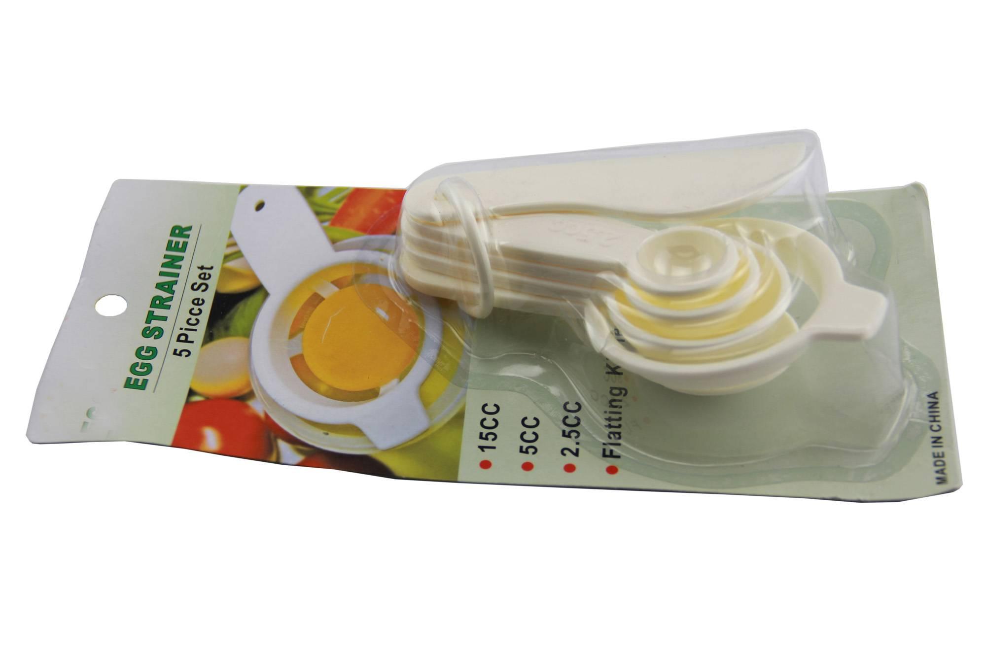 plastic egg strainer set