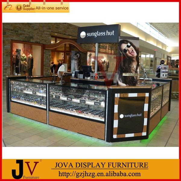 Fashion design mall use sunglasses display kiosk in the shopping mall