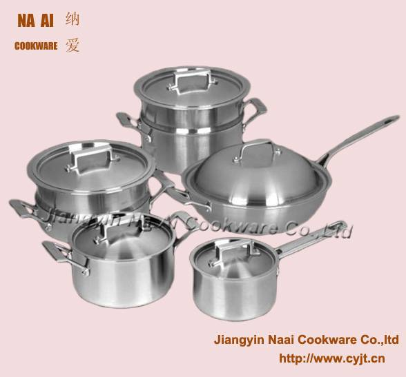 12pcs Classic 18/10 Stainless Steel Cookware Set
