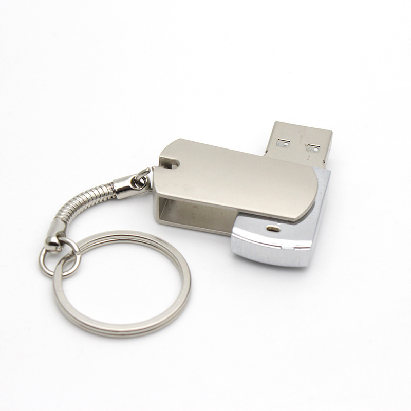 CaraUSB rotating metal Usb disk keychain 8GB Custom personalized flashdrive gifts