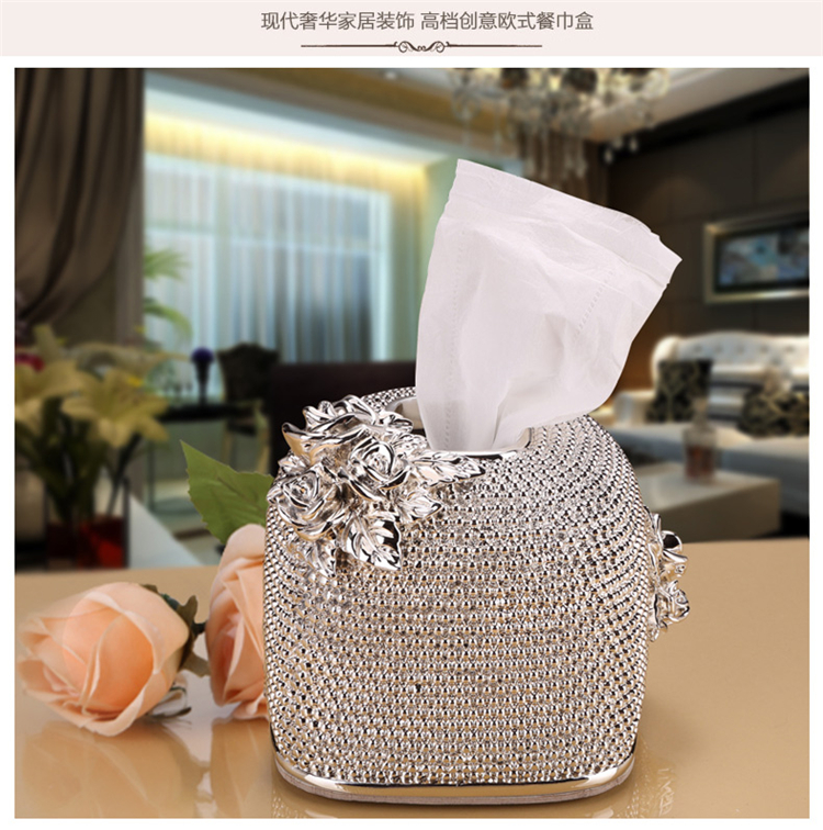 Wedding table ornament luxury table decoration resin paper storage box