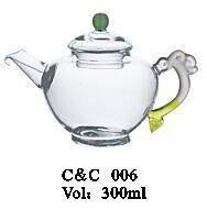 glass tea set !Haonai hot sale clear and funny glass tea set