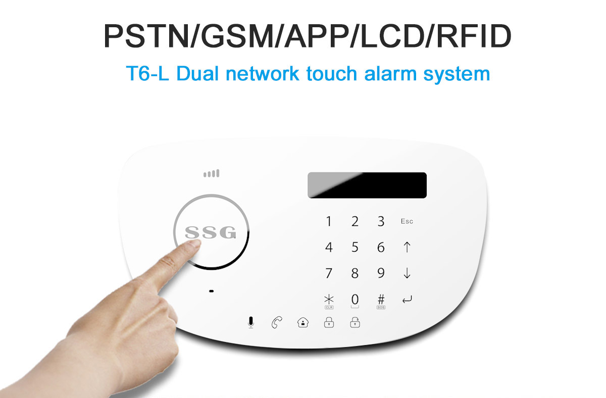 T6-L Dual network touch alarm system