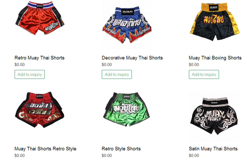 Muay Thai Retro and Traditional Shorts