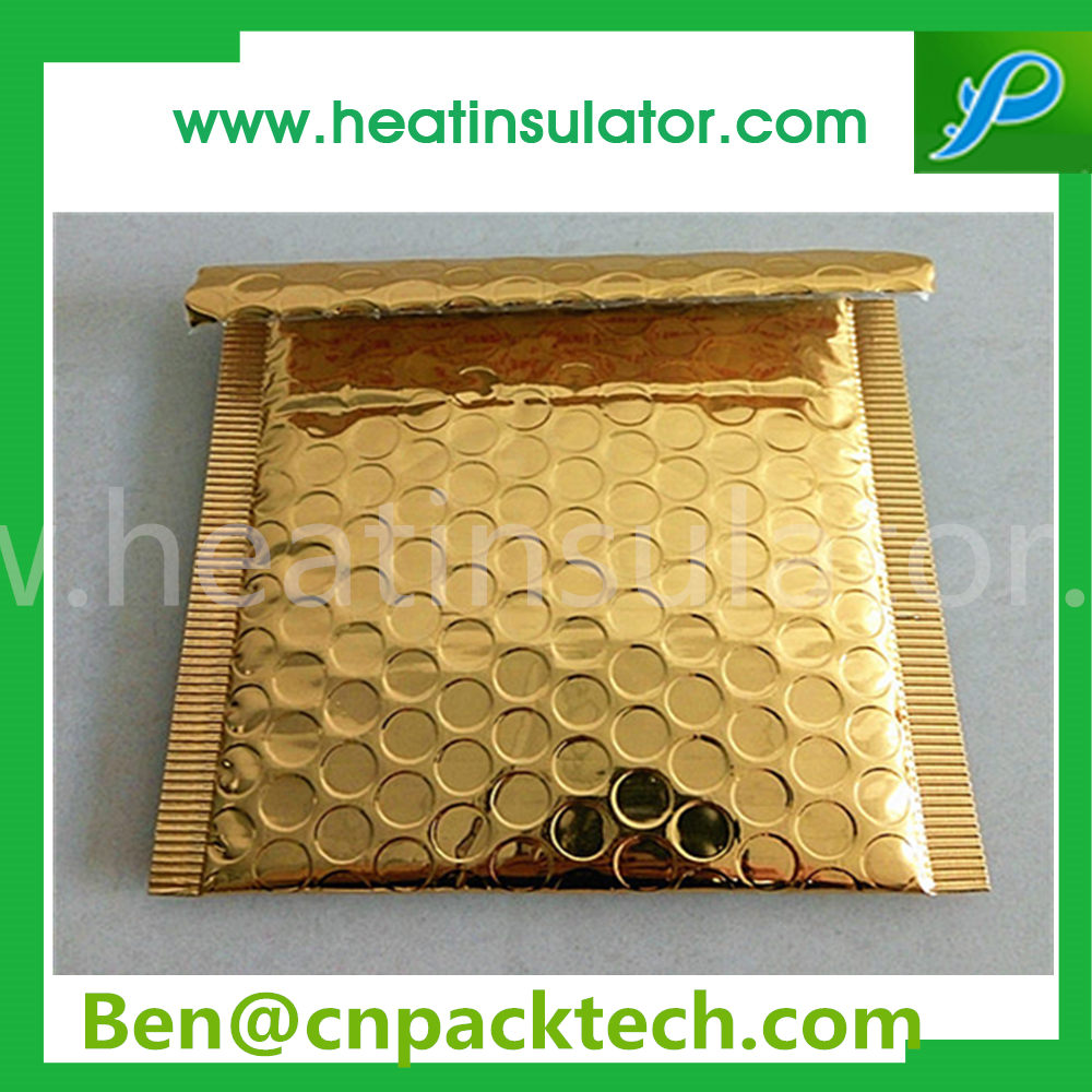 Gold Metallic Bubble Mailer Insulated Mailers For Pack