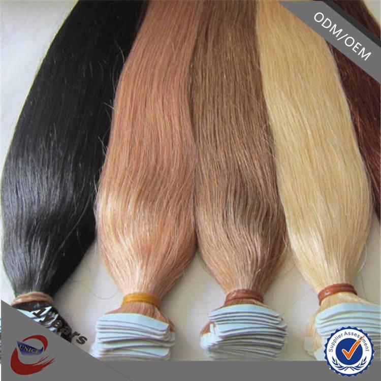 2015 New Arrival Unprocessed 100% Virgin Human European Tape Virgin Hair Extensions