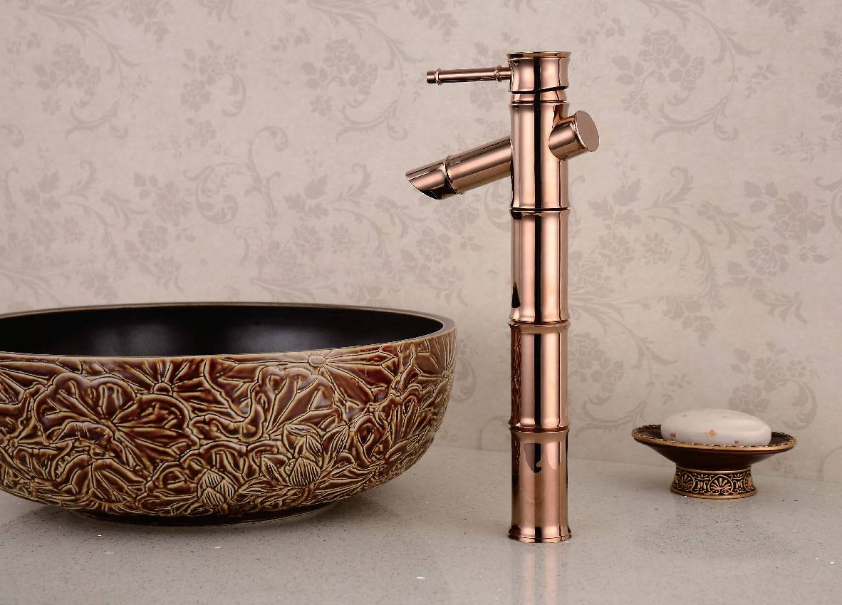 antique faucet bamboo shape single lever handle bathroom basin facuet