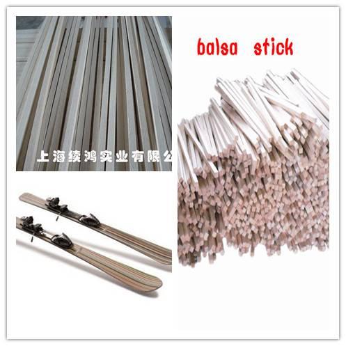 semi round shape balsa stick