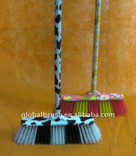 HQ0578P cow design water transfer printing broom head