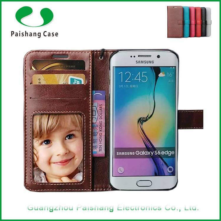 New cellphone cover with card slots money slots wallet flip leather cases and covers for Samsung Gal