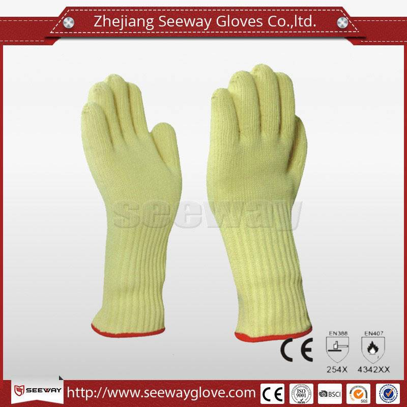 SeeWay M500 Para Aramid Long Wrist Protect BBQ Gloves with Five Fingers