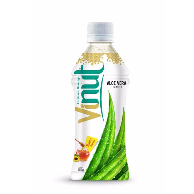 350ml Bottle Natural Aloe Vera Juice with Honey flavor