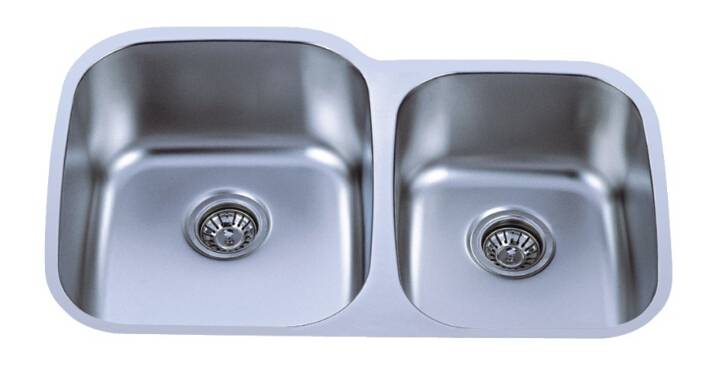 Undermount double bowl sink 60/40