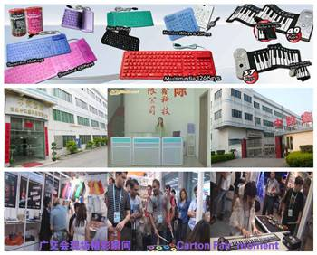 silicone 61 keys flexible roll up piano