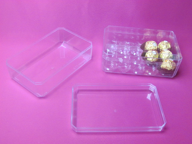 plastic chocolate case, PS candy box
