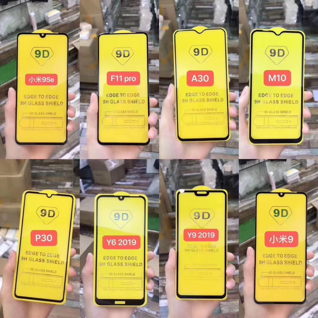 9D Full Glue Full Cover Tempered Glass Screen Protector for all phone