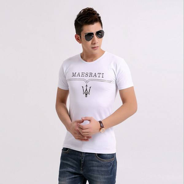 Custom 100% cotton solid color plain men t-shirt with pattern OEM
