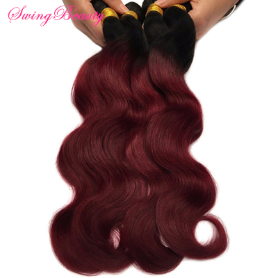 Factory 100% Natural Human Hair Extension Ombre Color In Stock