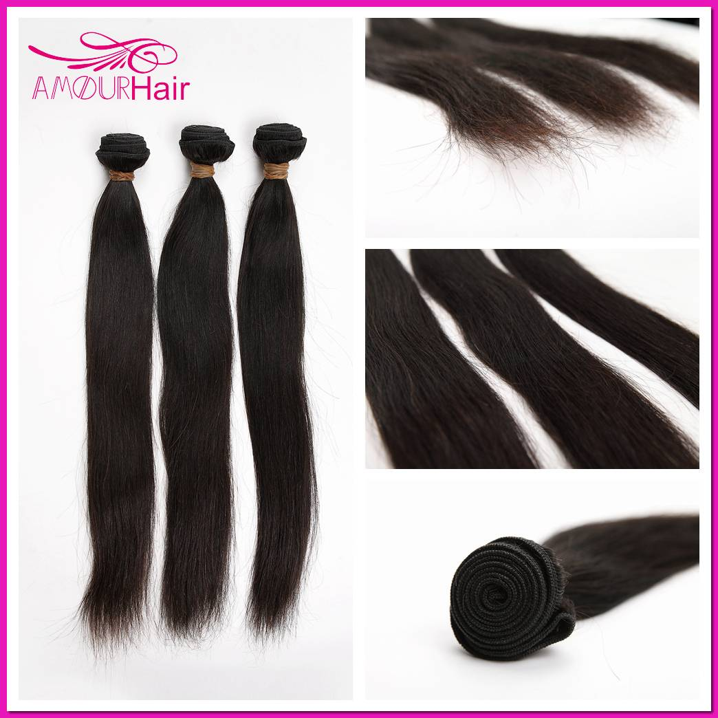 Brazilian Virgin Hair Weaving, Straight, 8 inch-34 inch,100% human virgin Hair