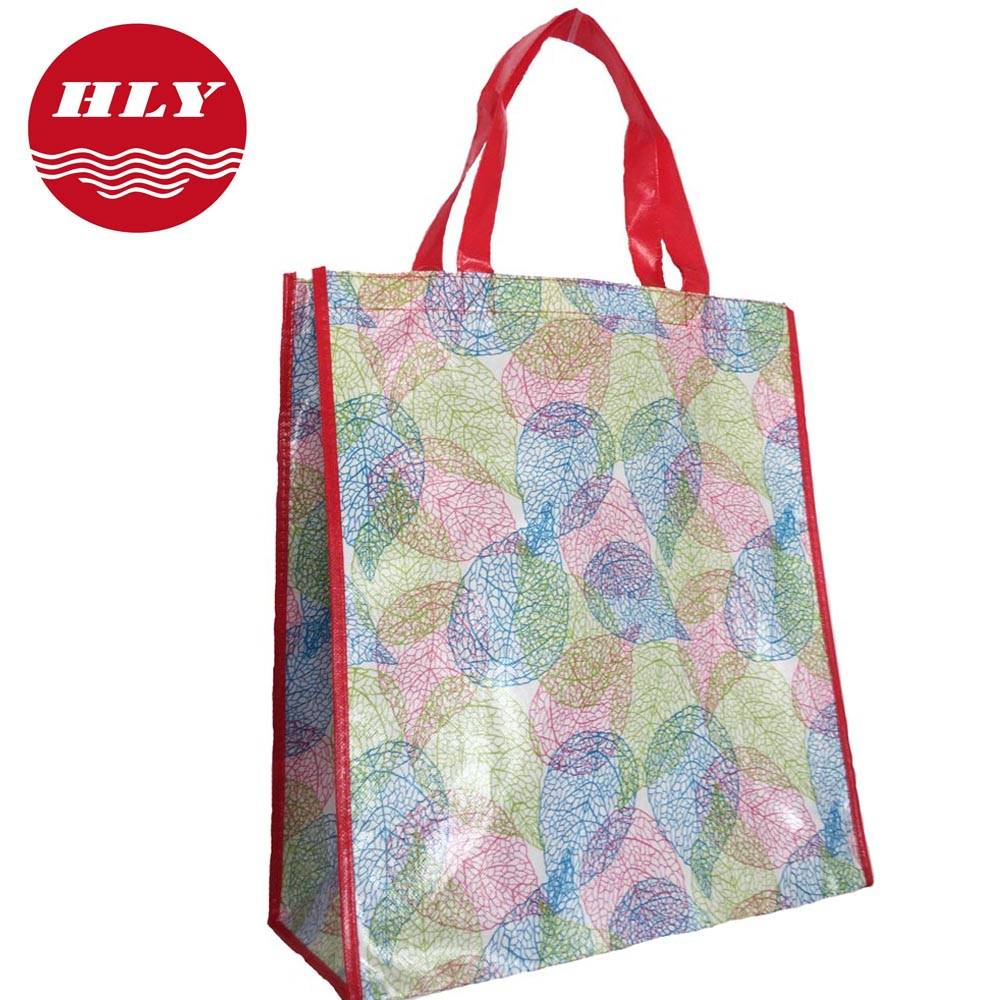 New style Fasion Non-woven Shopping Bag with Red Handle