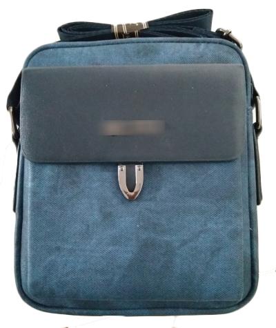 Durable PU leather men messenger shoulder bags with adjustable shoulder strap