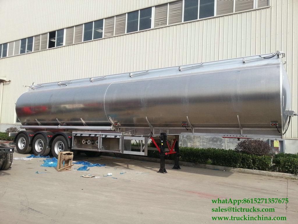 DRZ9400GYYL Aluminum Alloy Oil Tanker Semi-trailer -