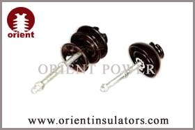 Porcelain pin type insulators in China