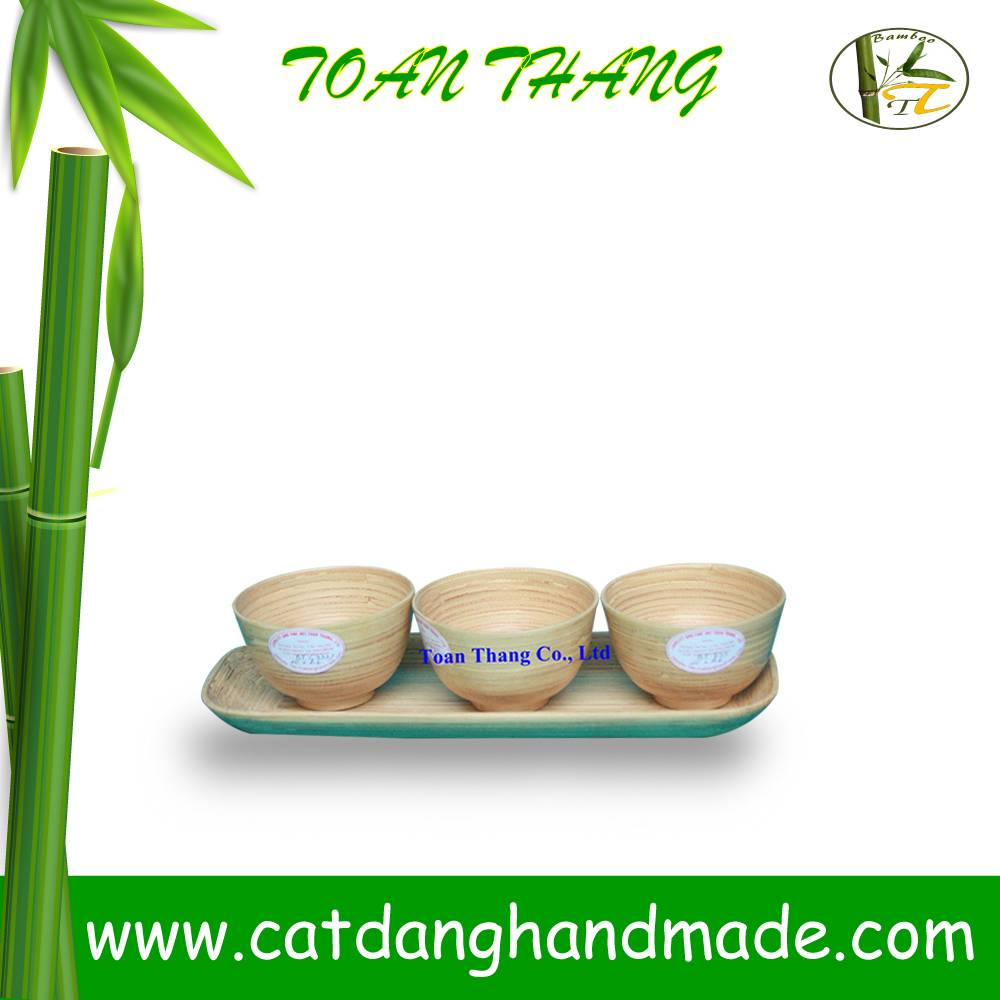Hot sale spun bamboo bread tray, coiled bamboo bowl and tray set (Skype: jendamy, whatsapp/viber: +8