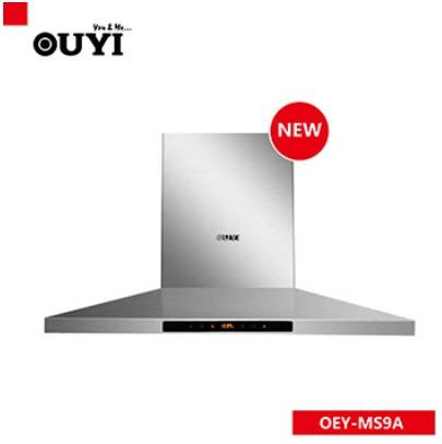 OUYI New T shape stainless steel kitchen hood with charcoal filter