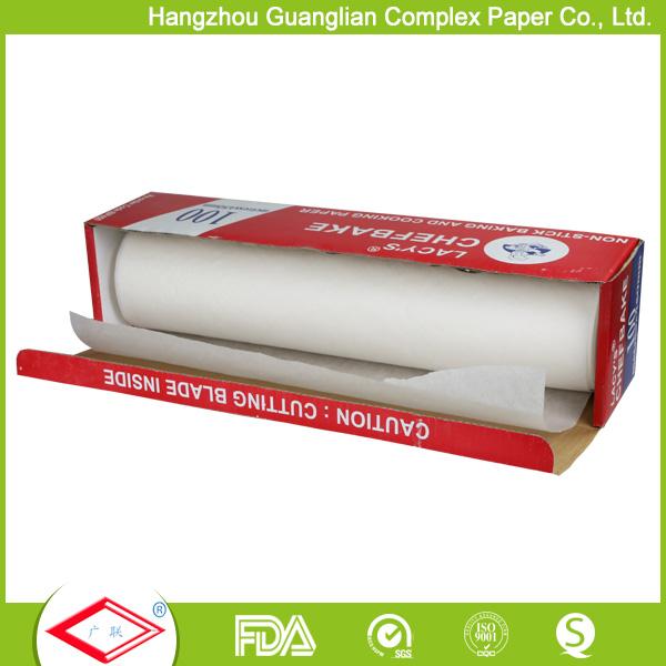 Silicone baking parchment paper