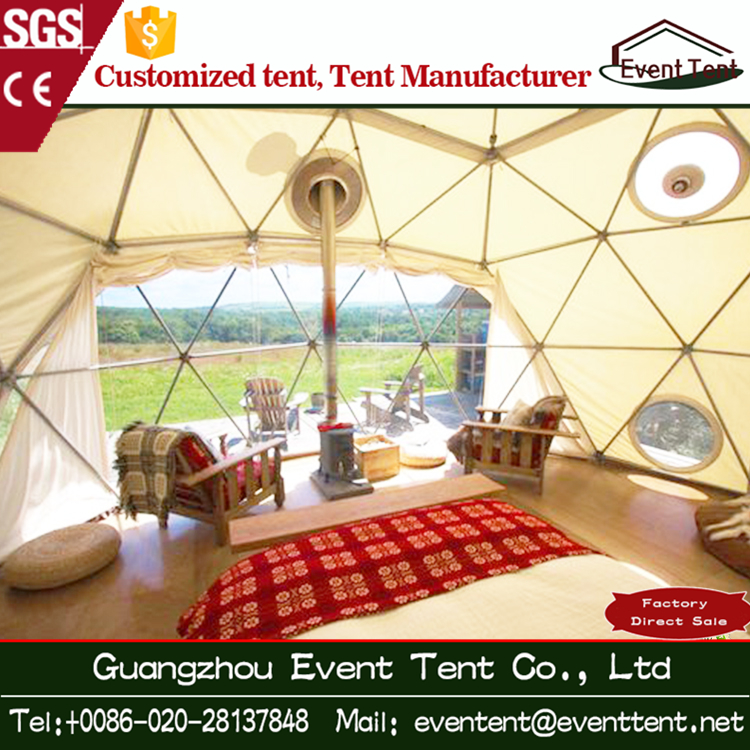 Well decorated event tent aluminium frame geodesic dome tent for sale