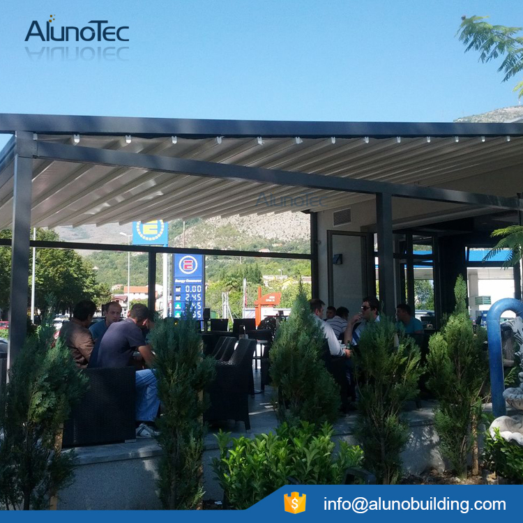 Retractable PVC Pergola Awnings with LED Lights