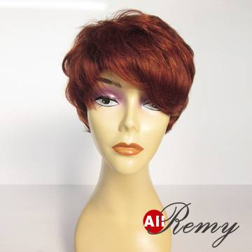 Short Human Hair Wigs-0178