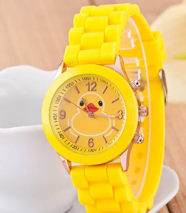 Luxury cartoon design silicone watch wrist pocket watches