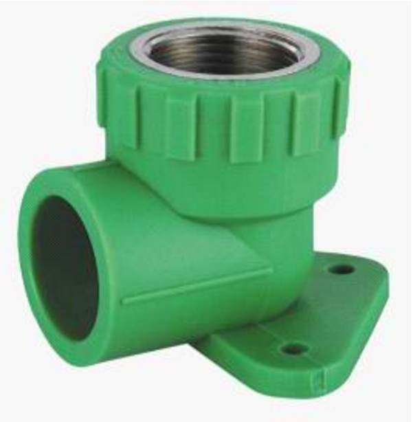 Plastic Pipe Fittings PPR Female Elbow with foot