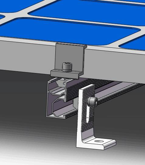 Metal roof with wooden beam,L feet solution
