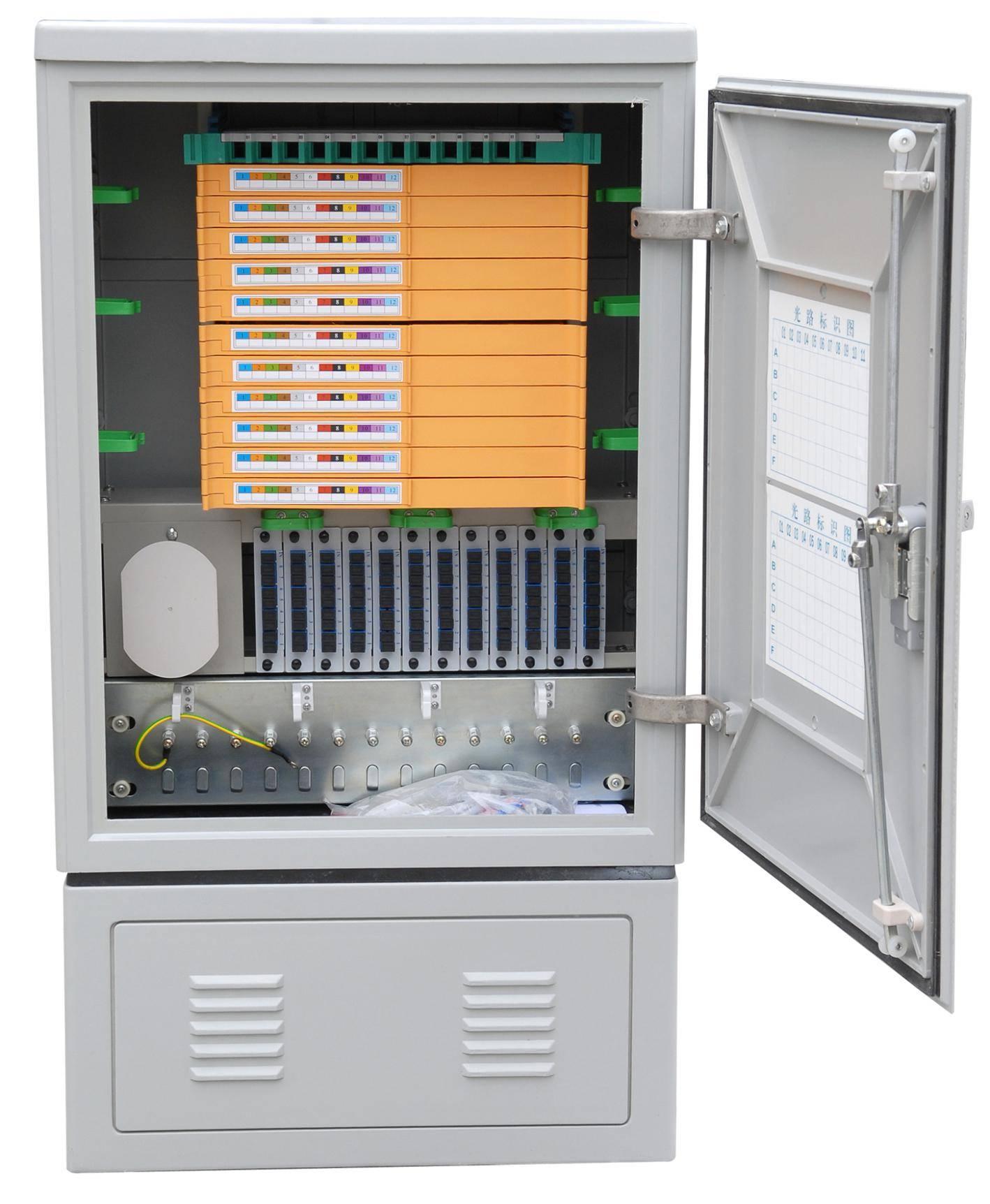 Fiber optic cross cabinet 144core smc
