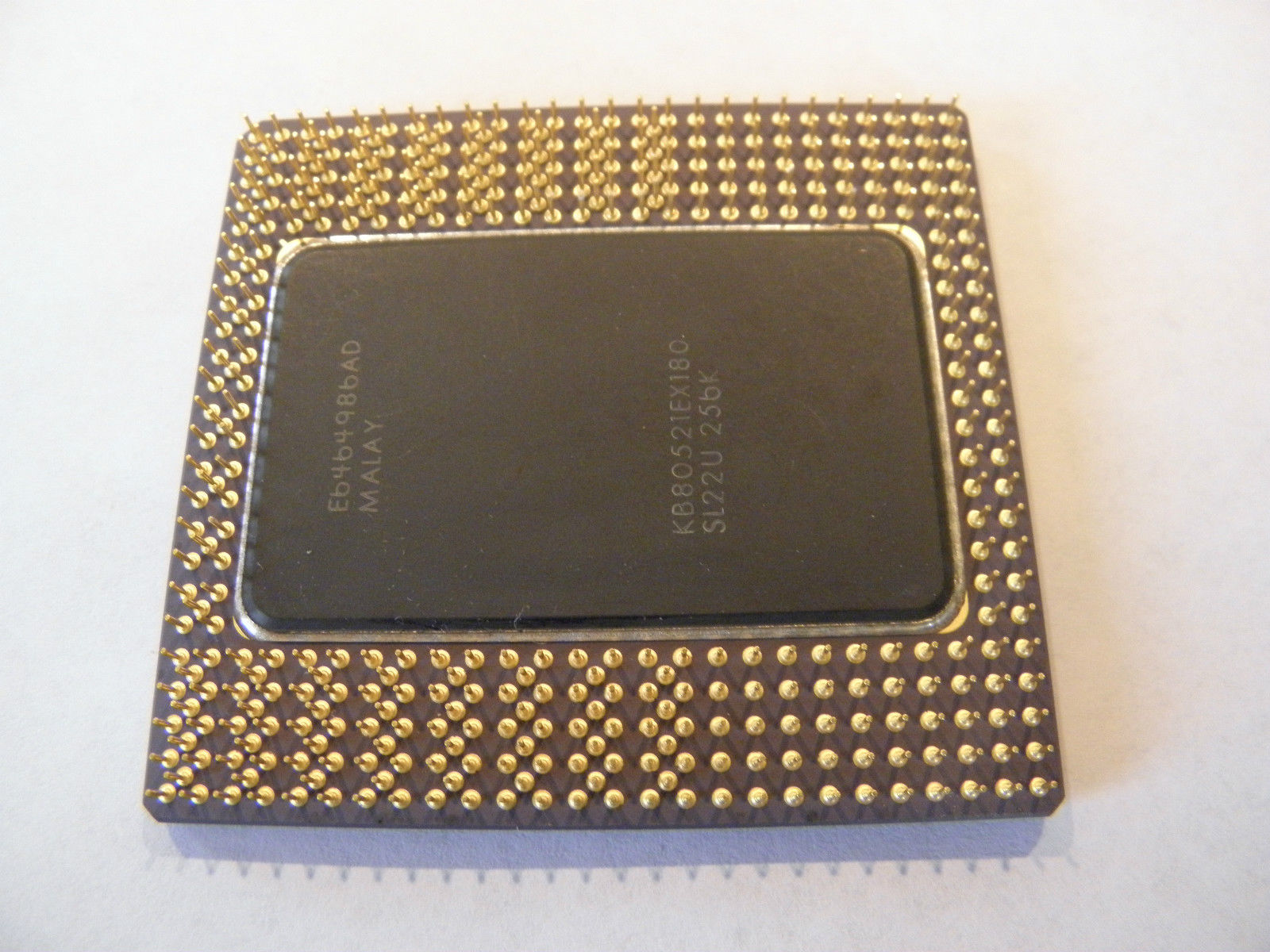 CERAMIC INTEL i960 CPU, GOLD PLATED PINS for GOLD Recovery & Collector