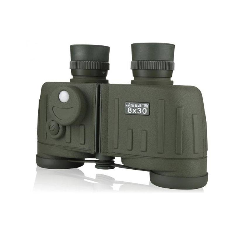 8x30 waterproof bak4 prism military binoculars with compass