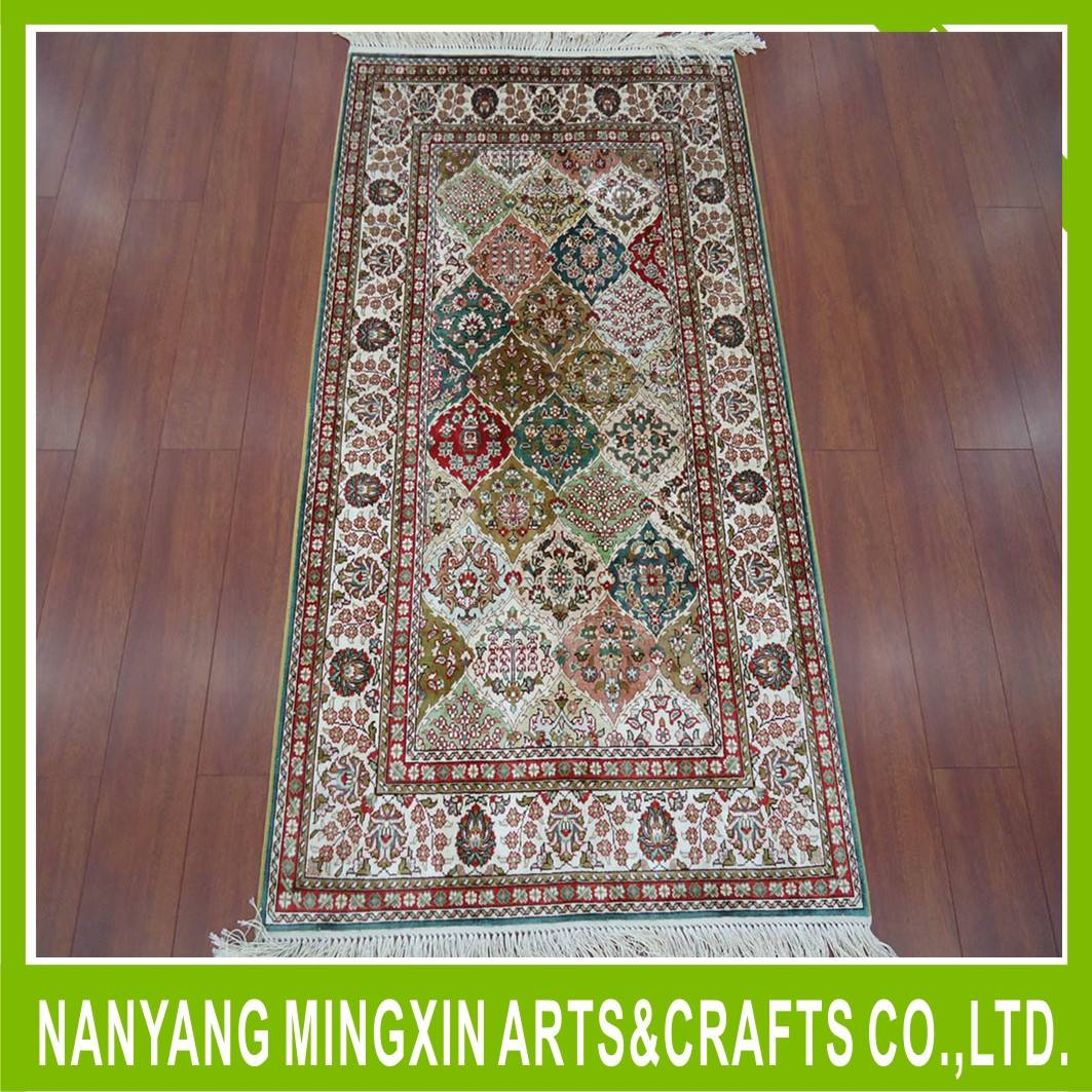 New design Silk hand-made rug discount top quality new arrival home hotel silk carpet