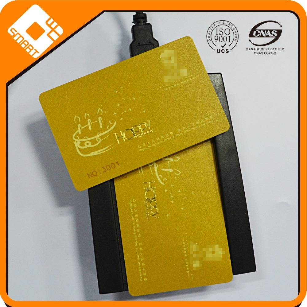 Pvc bank debit card /Golden card supplier/Best quality contact ic cards