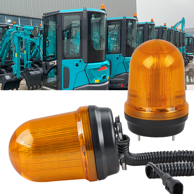Magnetic Mounting Rotating LED Beacon Light for Excavators