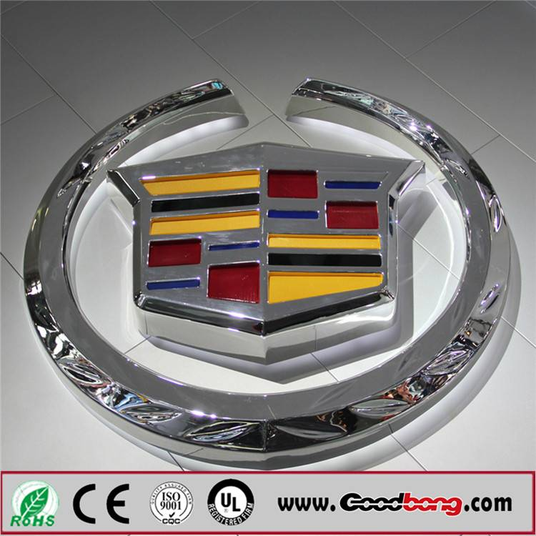 Vacuum Forming Electroplating Acrylic 3D Car Logo Signage