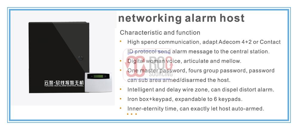 Wired Wireless GSM PSTN Combined Burglar Alarm Intuder Alarm Control Panel Alarm Host