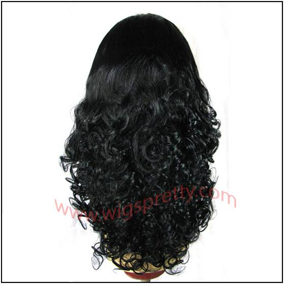 human hair full lace wigs big bottom curl