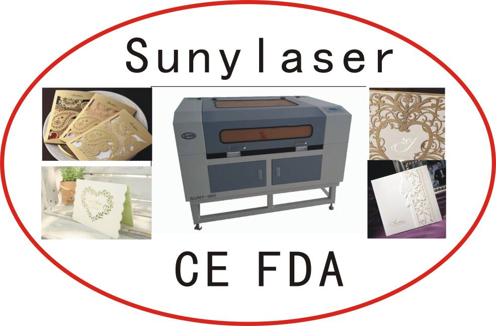 High Speed 80W Greeting Card Laser Cutter with Ce FDA