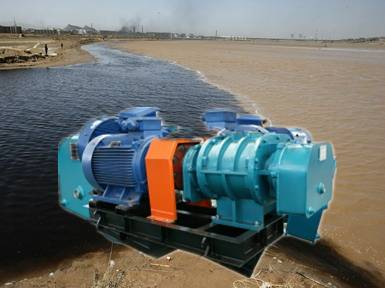 Sewage treatment roots blower for aeration  zhangqiu fengyuan