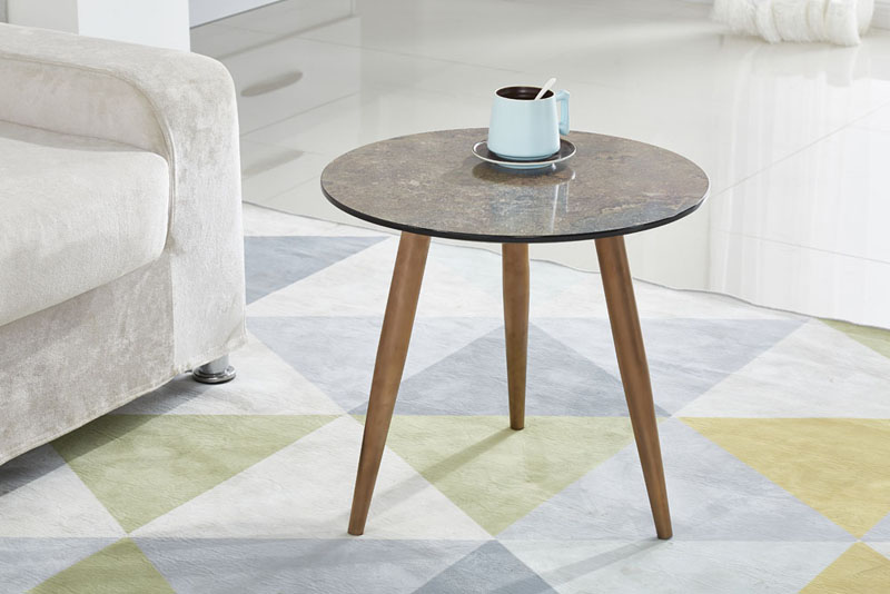 New Design Marble Effect MDF Top Small Coffee Table