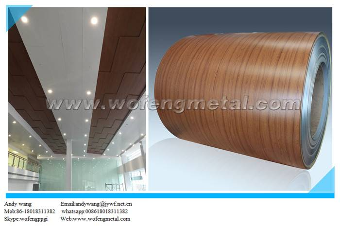 PVC film laminated pattern prepainted PPGI